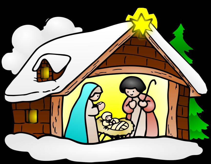 Nativity clipart religous. Large holiday christmas religious