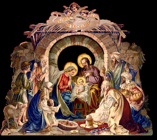 Nativity clipart savior born. Creche de noel vall
