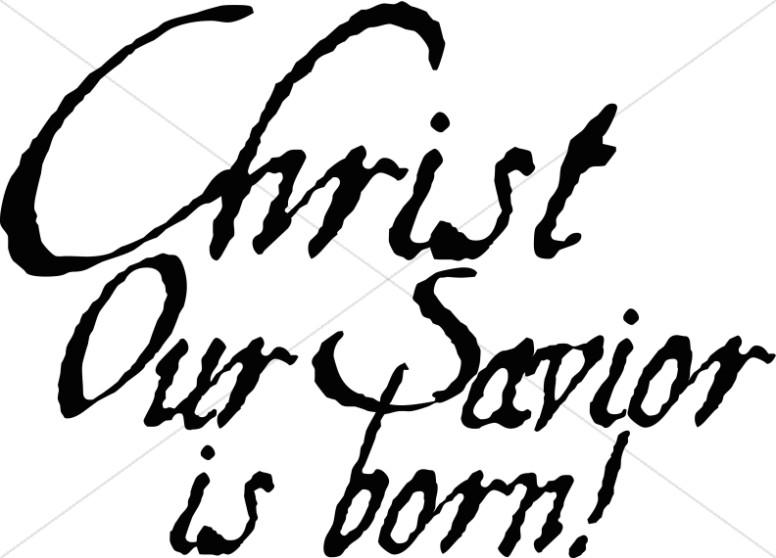 nativity clipart savior born