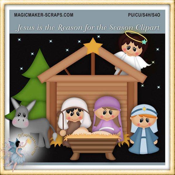 Nativity clipart season. Christmas jesus is the