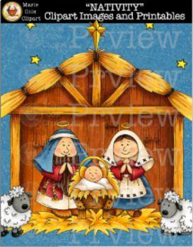 Marie cole . Nativity clipart spiritual
