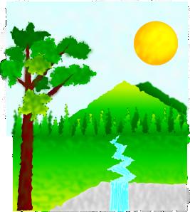 Nature clipart. Natural landscape clip art