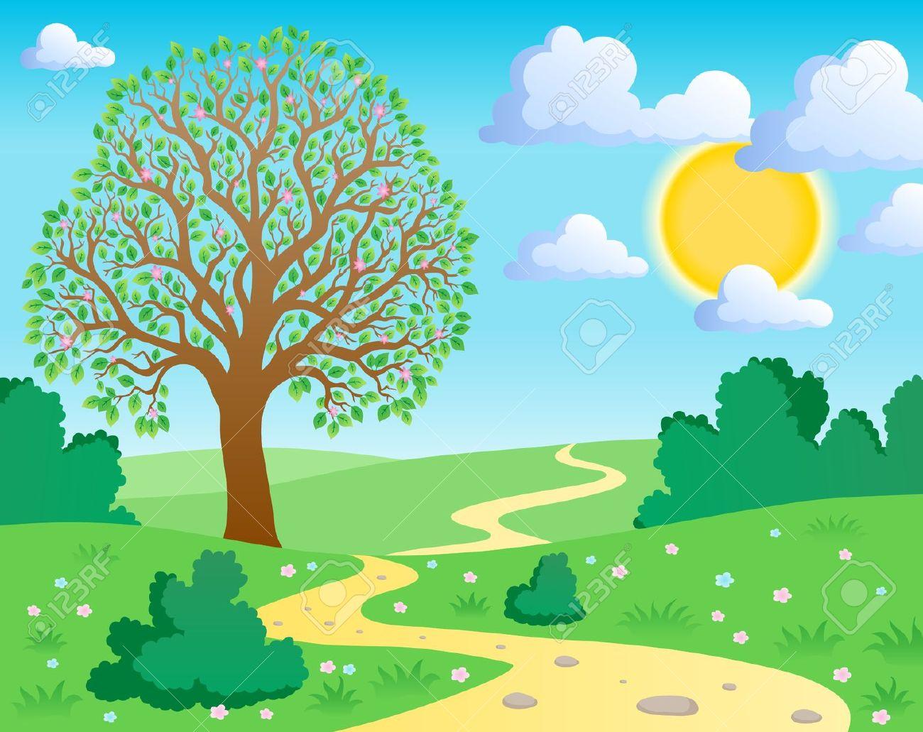 Nature clipart. Free scene cliparts download