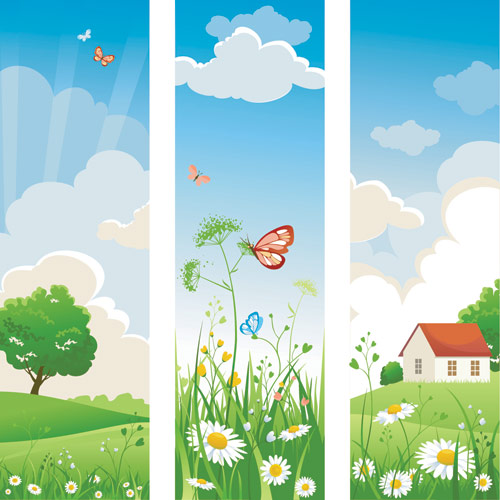 Clip art library . Nature clipart banner