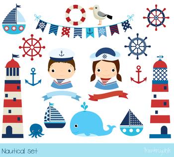 Nautical clipart. Sailboat clip art lighthouse