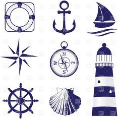 Free vector pack pinterest. Nautical clipart