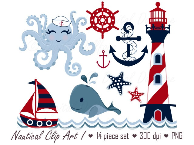 Nautical clipart. I meylah
