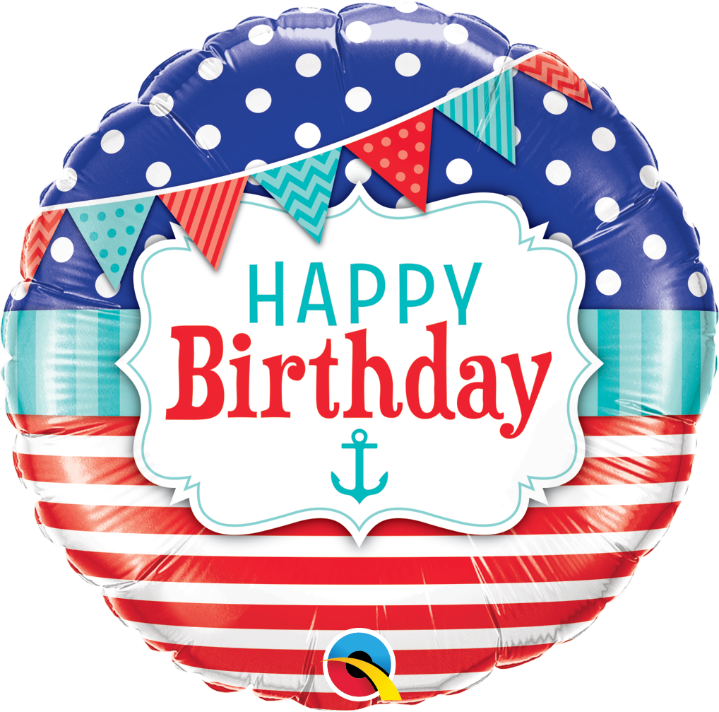 Happy birthday bouquet party. Nautical clipart balloon