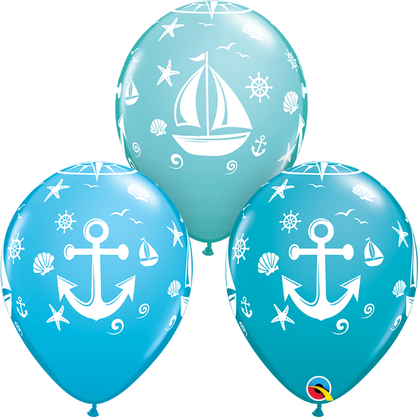 Products saloon print sailboat. Nautical clipart balloon