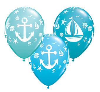 boat print latex. Nautical clipart balloon
