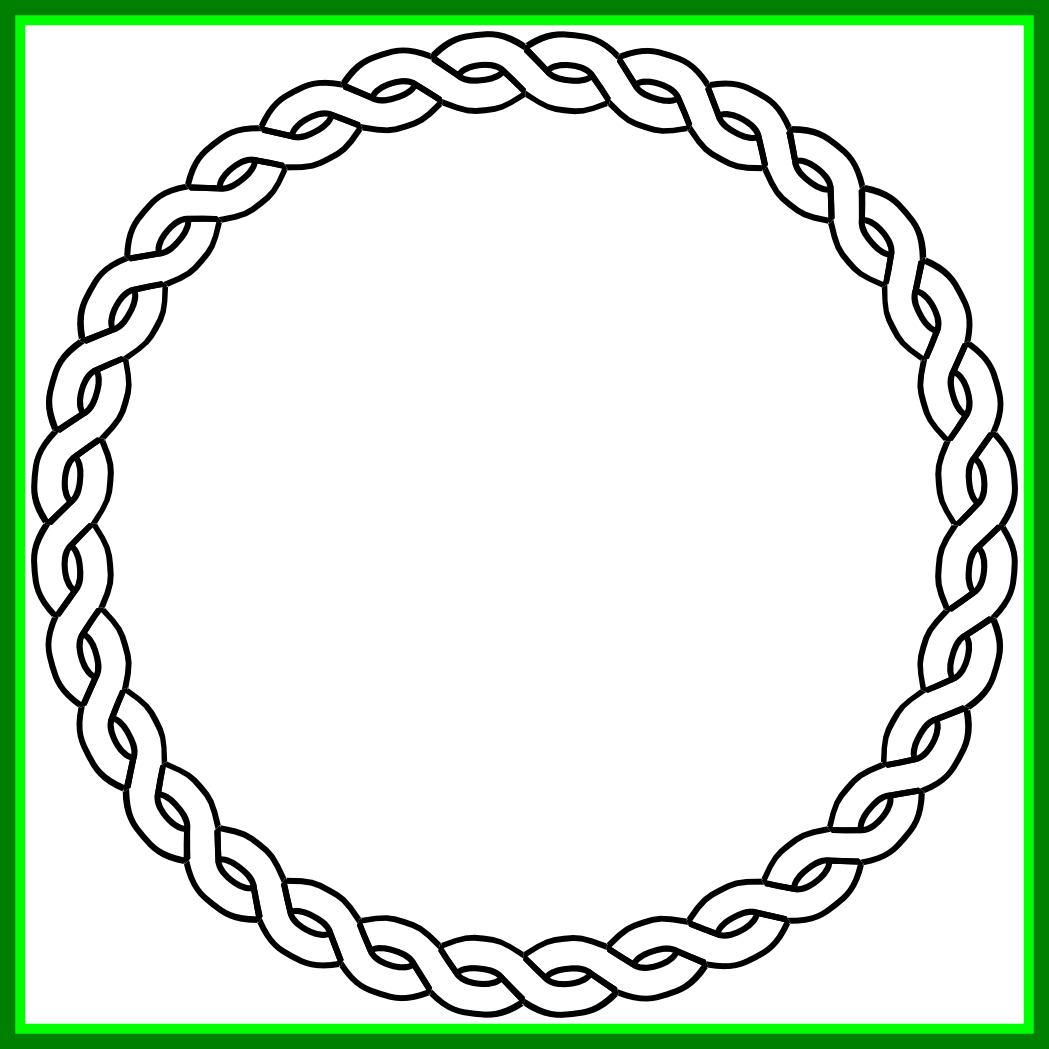 Nautical clipart black and white. Unbelievable rope border circle