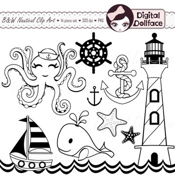 Clip art lines graphics. Nautical clipart black and white