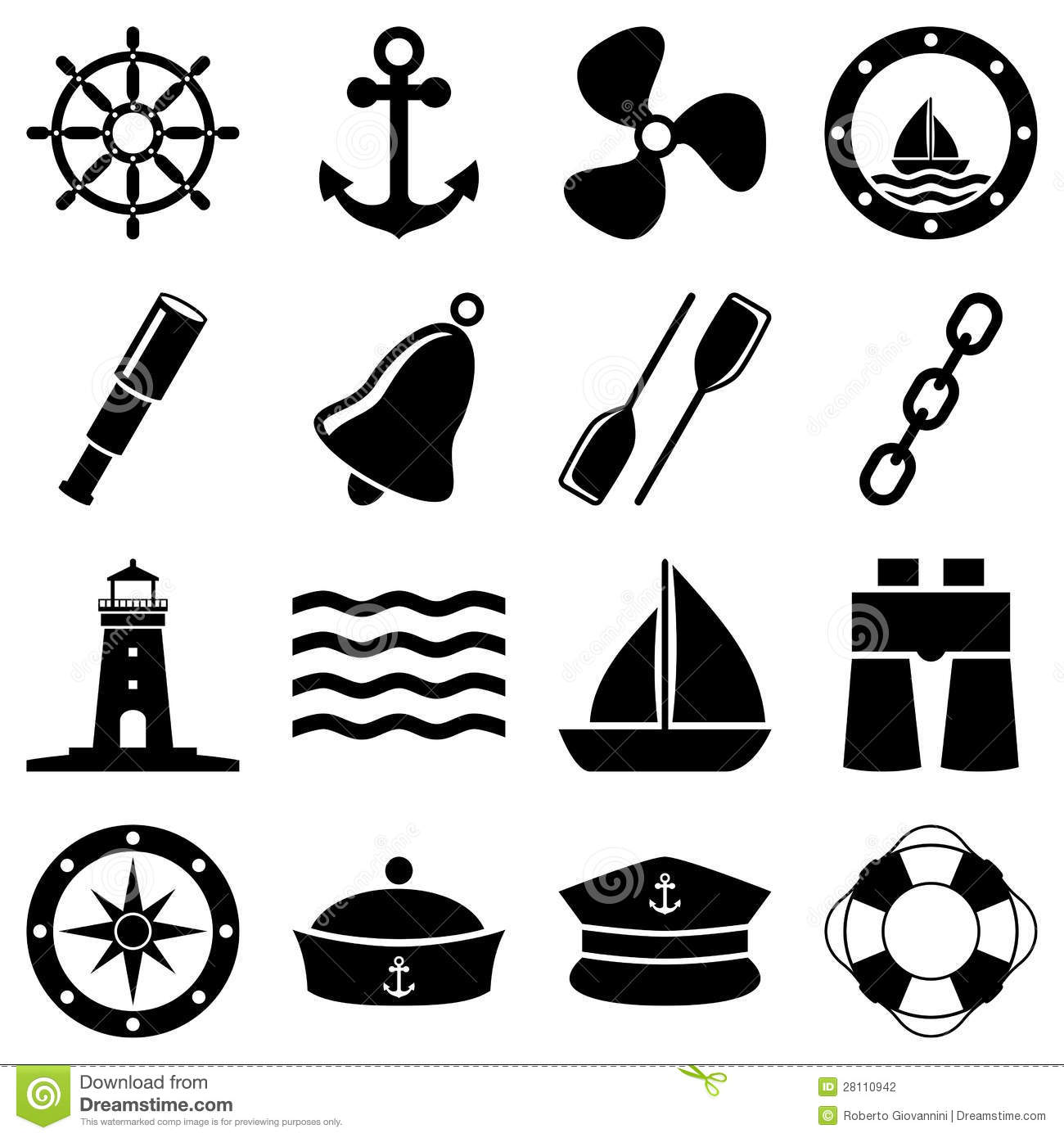 Station . Nautical clipart black and white