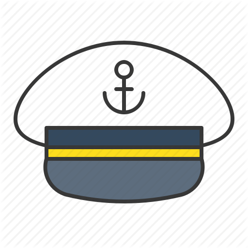 Nautical clipart cap.  filled by icon
