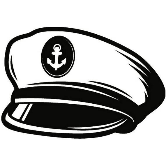 Nautical clipart captain cap. Hat naval navy ship