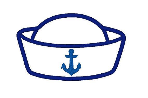 Nautical clipart hat. Sailor applique instant download