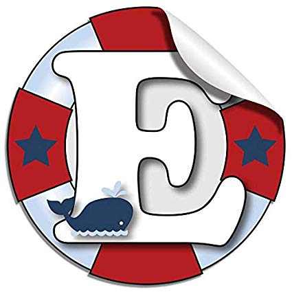 Wall letters e ocean. Nautical clipart letter