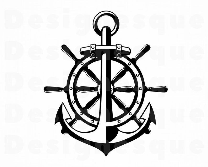 Nautical clipart nautical item. Svg anchor files for