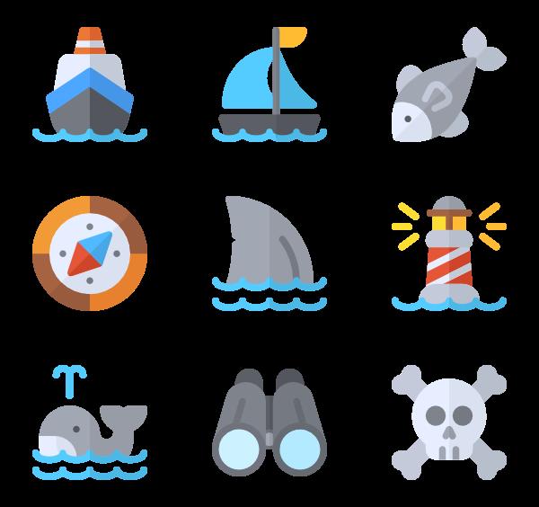 Nautical clipart navigation. Icons free vector sailor
