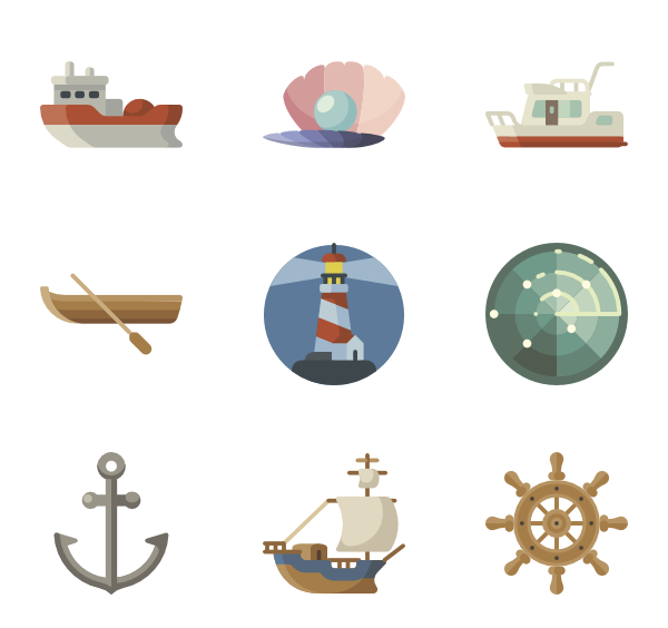 Icons free vector. Nautical clipart navigation