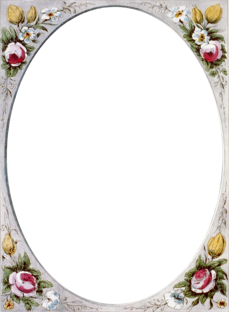 Victorian border frame png. Floral vintage call me