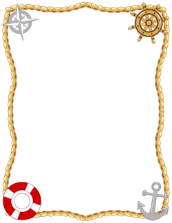 Nautical borders clip art. Sailor clipart border