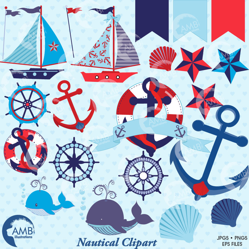 Nautical clipart red. Clip art in and