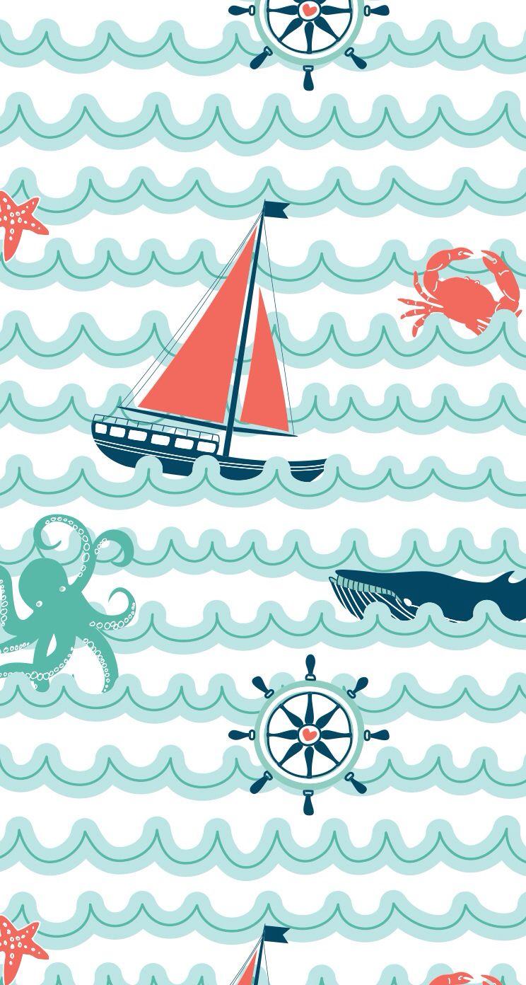 Nautical clipart wallpaper. Sailboat iphone i p