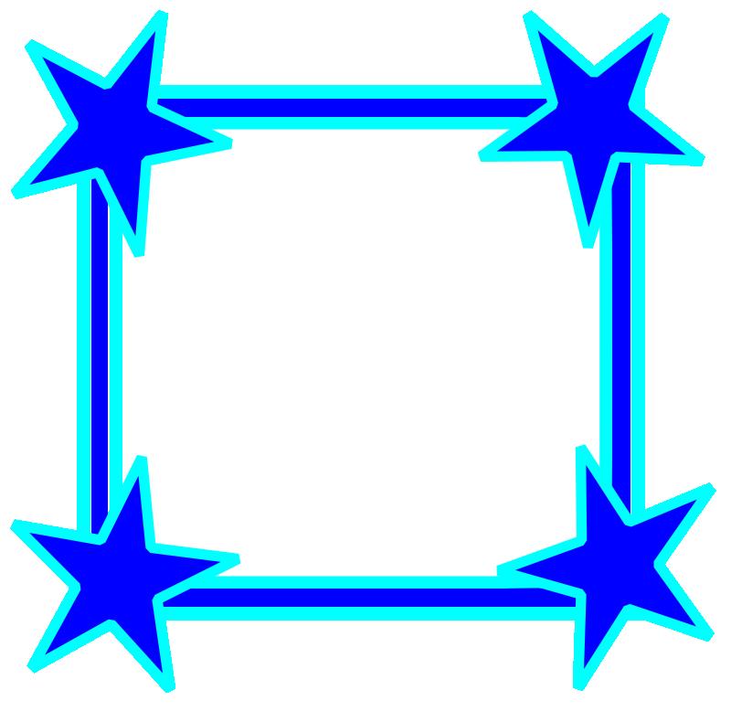 Blue star . Navy clipart border