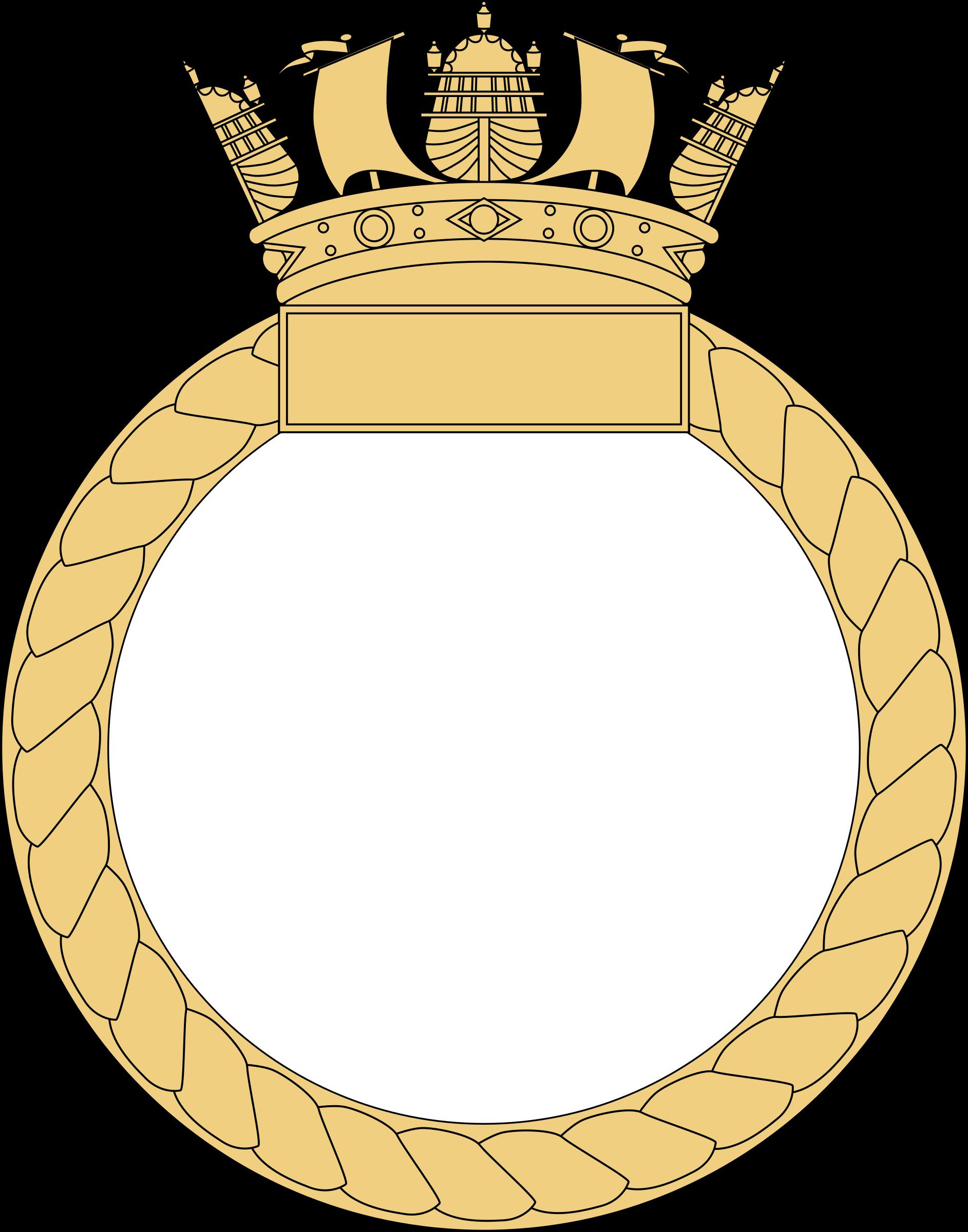 Ship s badge big. Navy clipart crest