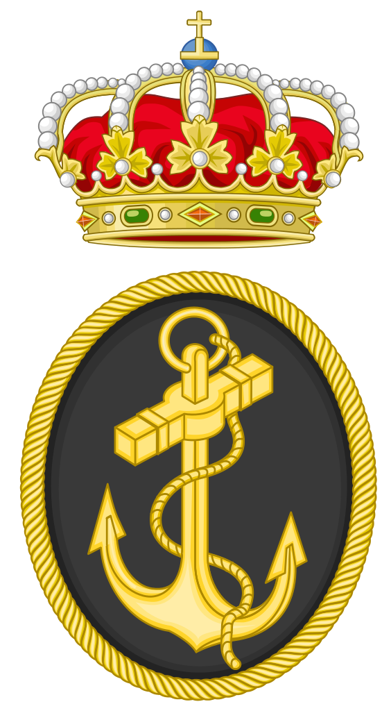 Emblem of the spanish. Navy clipart game