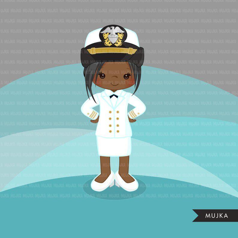 Navy clipart girl navy. Female officer little graphics
