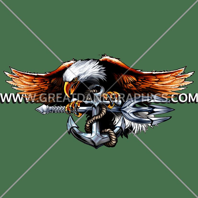 Navy clipart illustration. Eagle production ready artwork