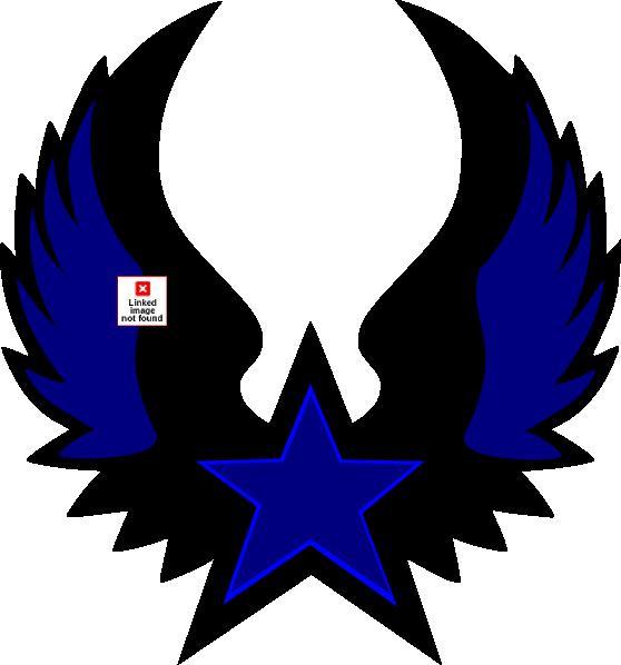 Blue star emblem clip. Navy clipart illustration