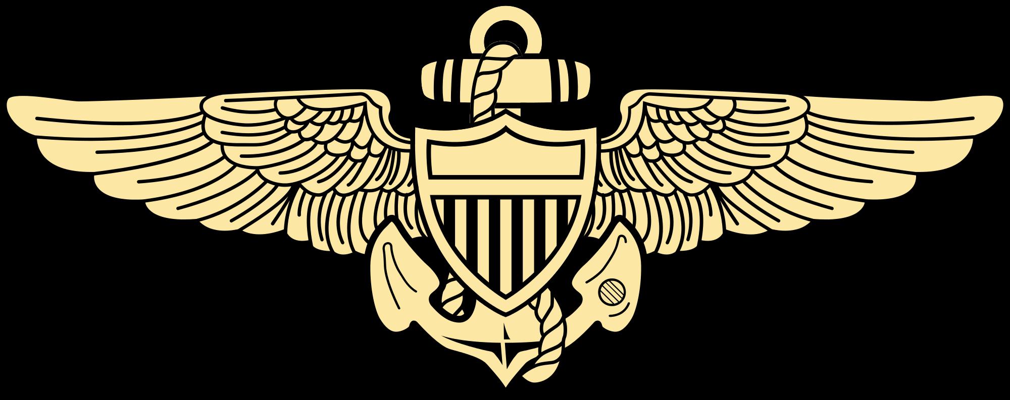 File naval aviation insignia. Pilot clipart pilot navy