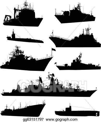 Vector art set eps. Navy clipart naval