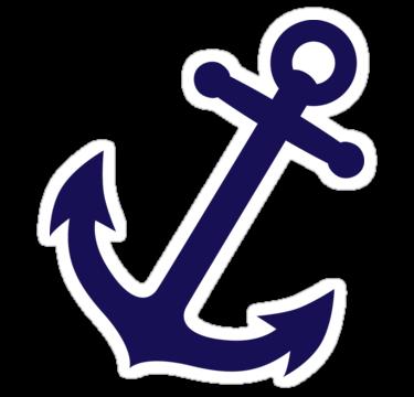 Sticker by fuchs und. Navy clipart navy blue anchor
