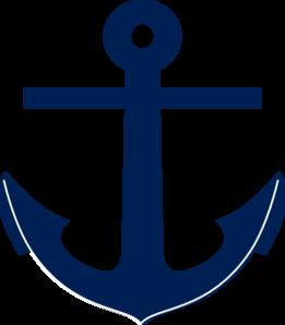 Clip art at clker. Navy clipart navy blue anchor