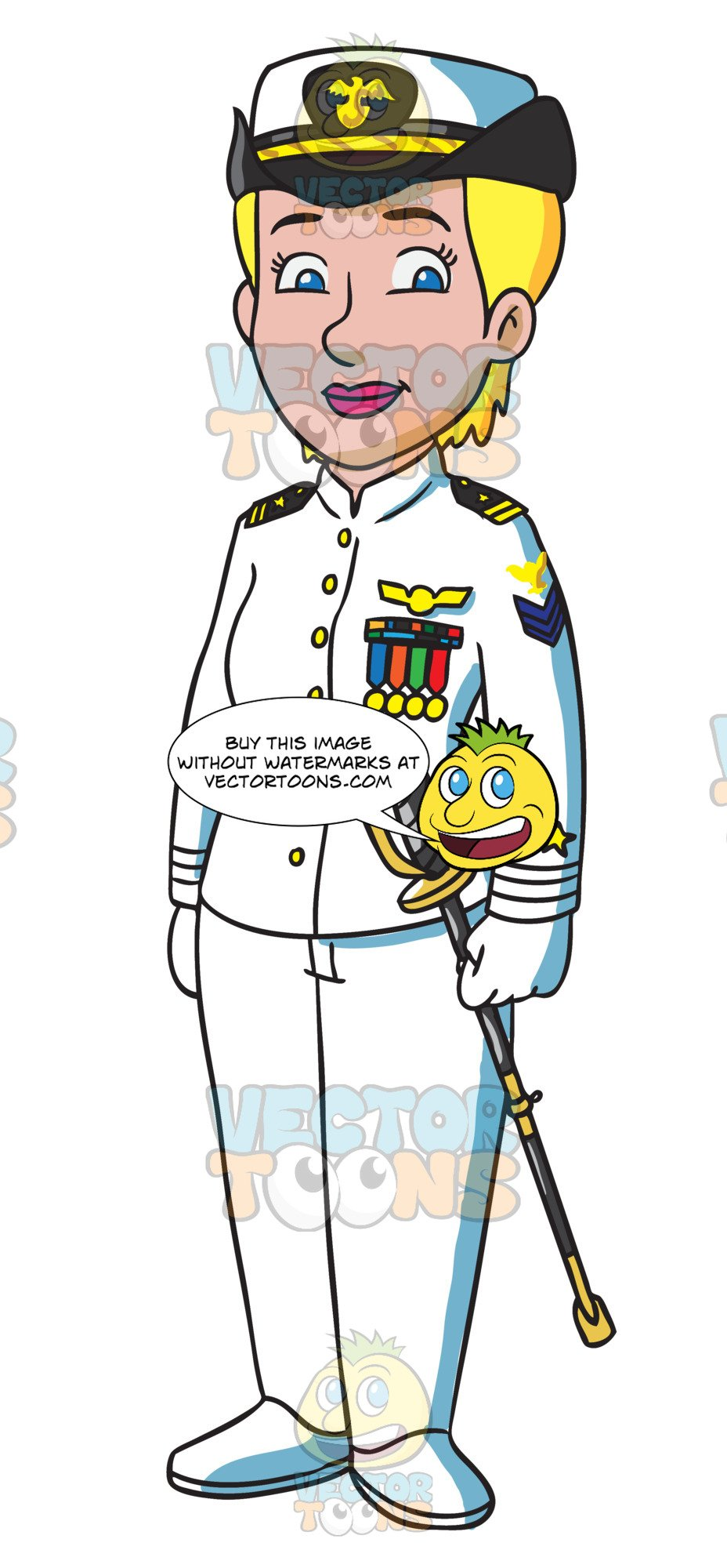 A female naval in. Navy clipart officer navy