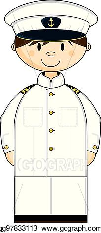 Navy clipart officer navy. Eps vector in whites