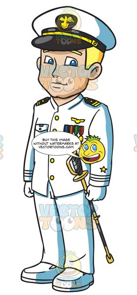 Navy clipart officer navy. A dressed in full