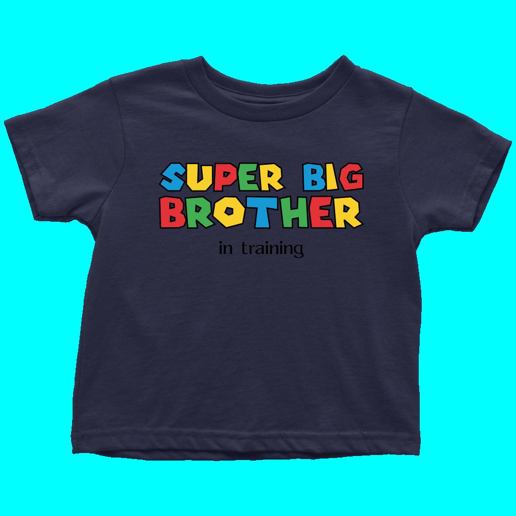 Super big brother shirt. Navy clipart onesie
