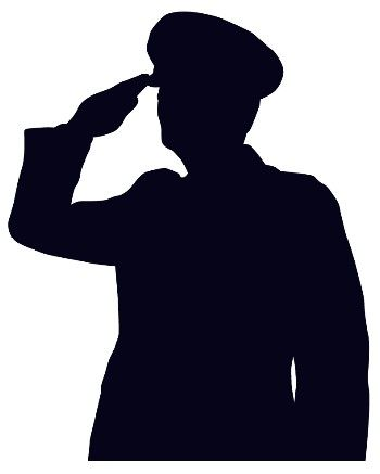 Saluting drawing displaying gallery. Navy clipart soldier salute