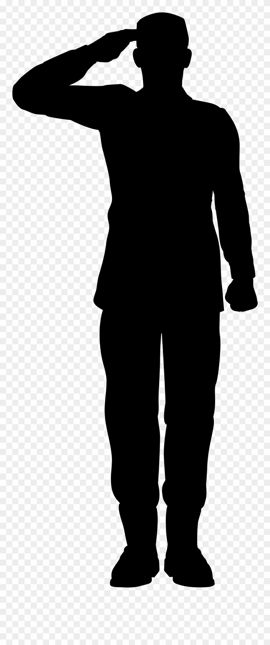 Navy clipart soldier salute. Army saluting silhouette png