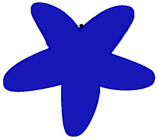 Blue panda free images. Starfish clipart three