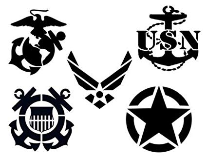 Navy clipart stencil. Amazon com outletbestselling reusable