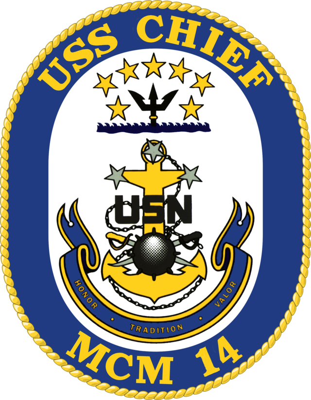 Navy clipart trident. Uss chief mcm wikiwand