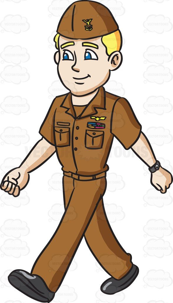 Navy clipart uniform navy. A man in his
