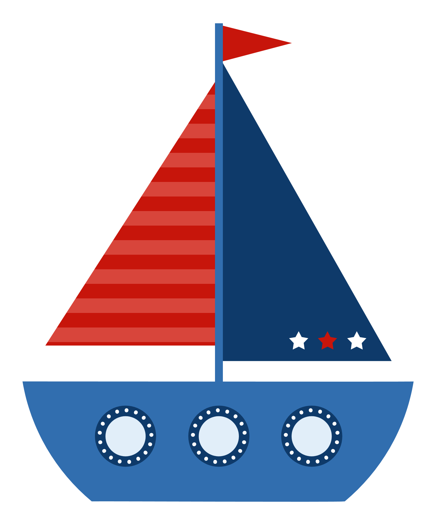 Navy clipart wheel. Blue sailboat free download