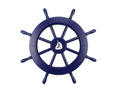 Dark blue ship with. Navy clipart wheel